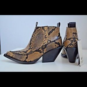 H & M A & W collection 2016 snakeskin pointed boot